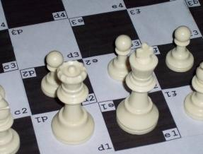 SANCS Algebraic Notation Chess Board Picture
